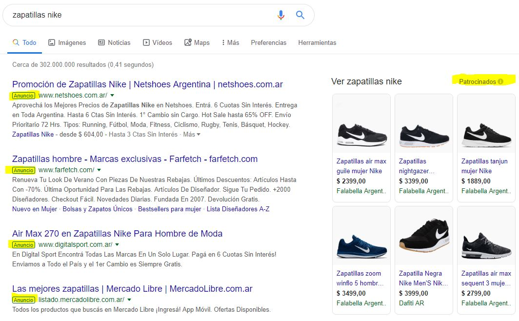 SERPS producto